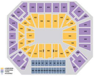 Concert 360 Seating Map