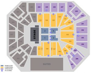 Concert Static Seating Map