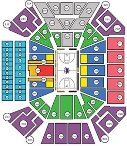 BLue Demon Seating Chart